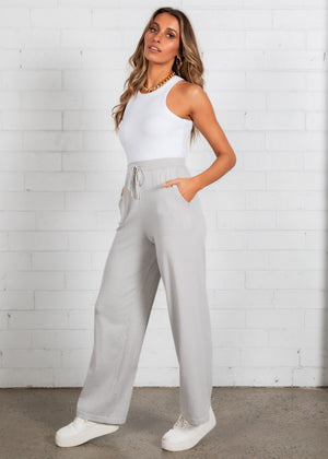 Zedd Wide Leg Pants - Grey
