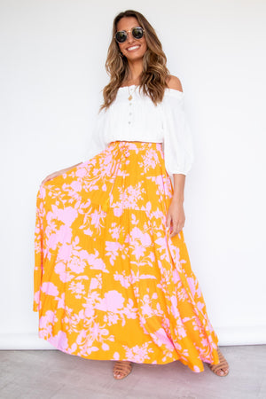 Keelee Maxi Skirt - Angelica
