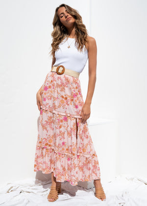 Vacay Mode Maxi Skirt - Dahlia