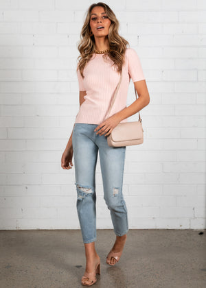 Robbie Knit Top - Blush