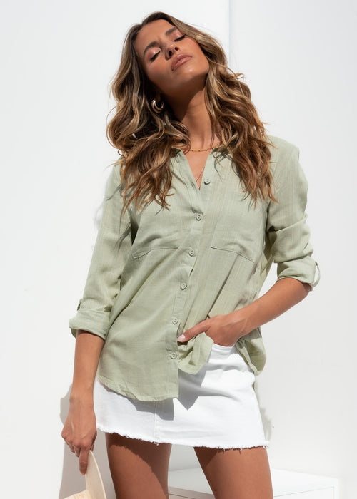 Emmalyn Shirt - Sage