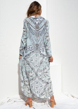 Meraki Chiffon Cape - Mint Ornate