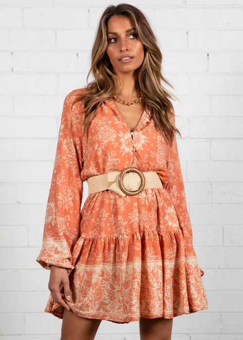 Cianne Dress - Rust Floral