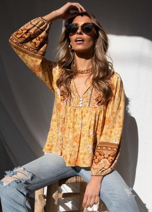 Free Roaming Blouse - Golden Horizon