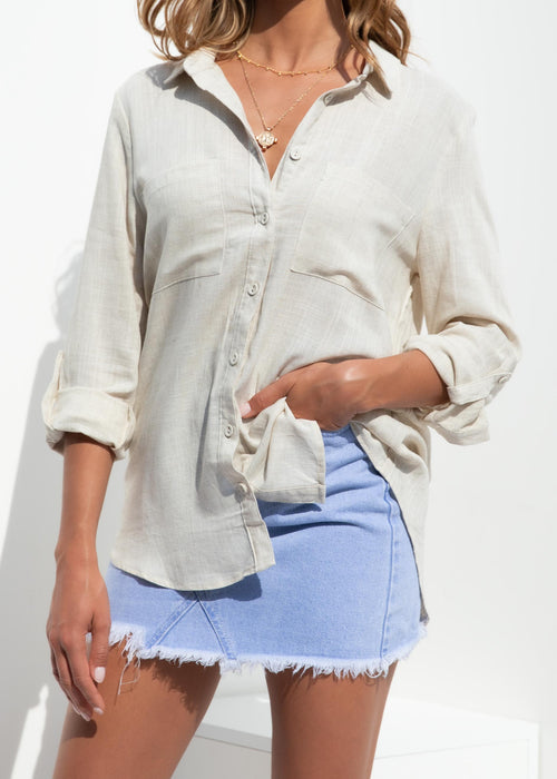 Emmalyn Shirt - Oatmeal