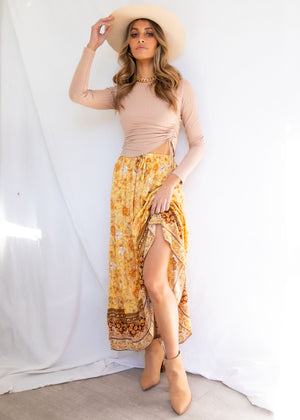 Sunseeker Maxi Skirt - Golden Horizon