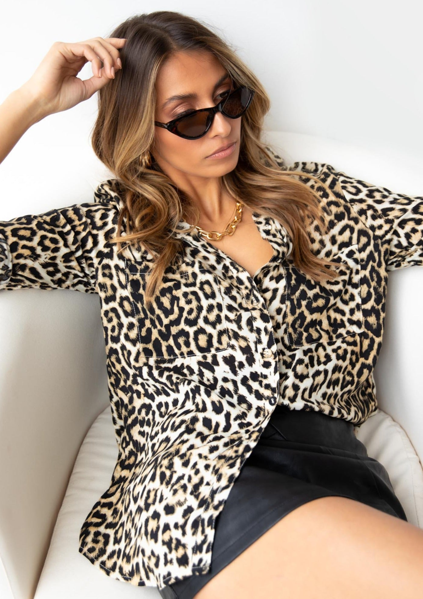 Emmalyn Shirt - Leopard