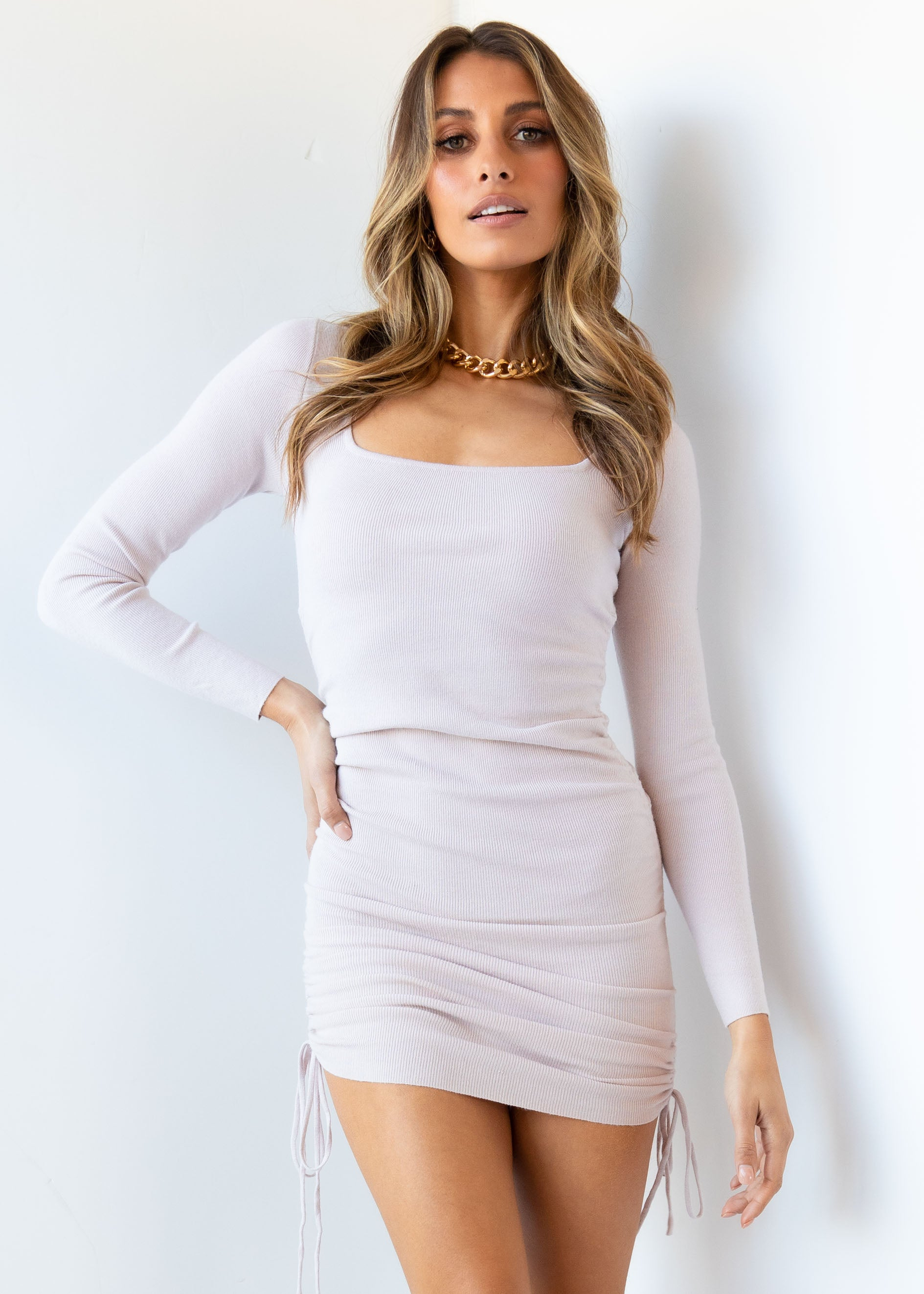 Mad For You Knit Dress - Blush