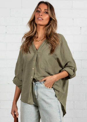 Here and Now Shirt - Khaki