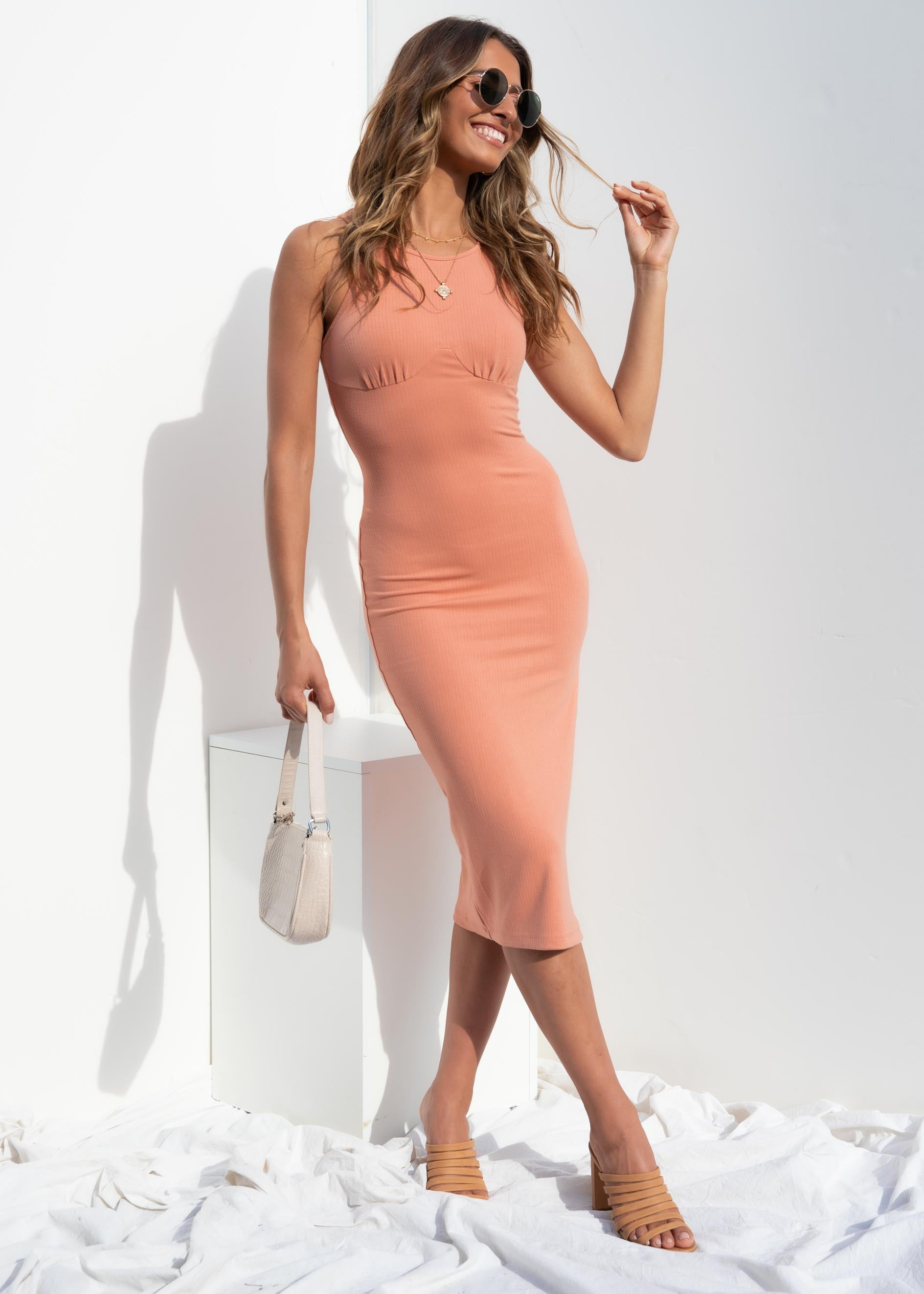 Gracelynn Midi Dress - Rose