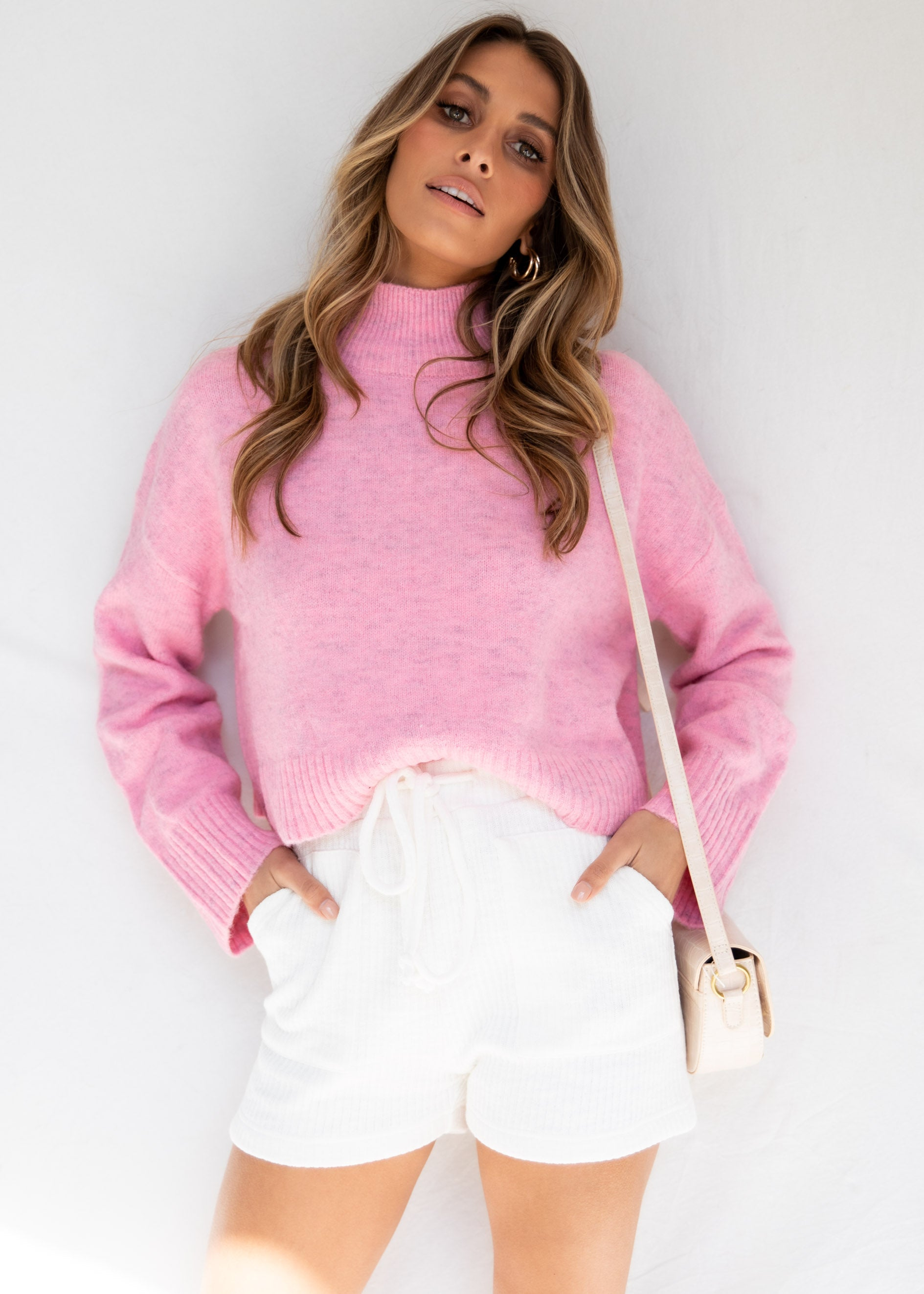 Zaria Knit Sweater - Pink