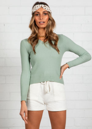 Intruder Knit Top - Sage
