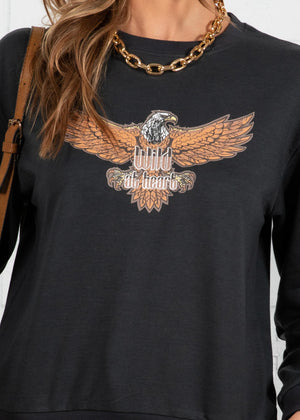 Wild Eagle Sweater - Charcoal