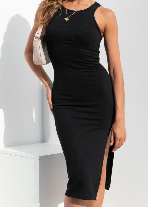 Gracelynn Midi Dress - Black