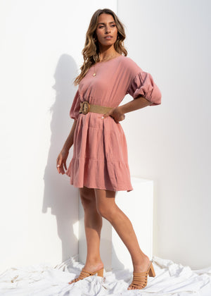 Come Back Swing Dress - Rose