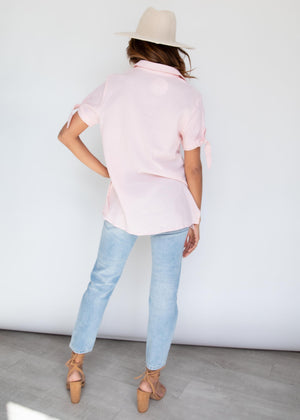 Talk The Talk Blouse - Blush