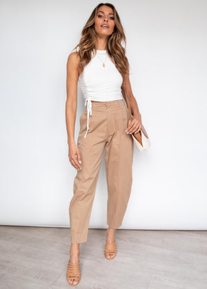 Upgrade You Cargo Pants - Camel