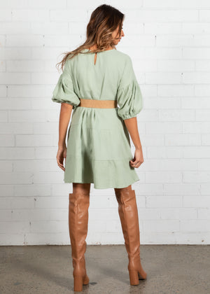 Come Back Swing Dress - Sage