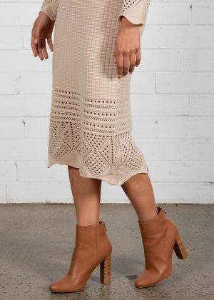 Pacey Ankle Boots - Dark Camel