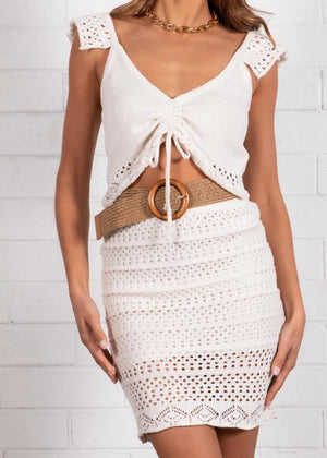 Sadee Knit Crop - Off White