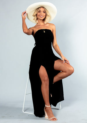 Guilt Free Strapless Pantsuit - Black