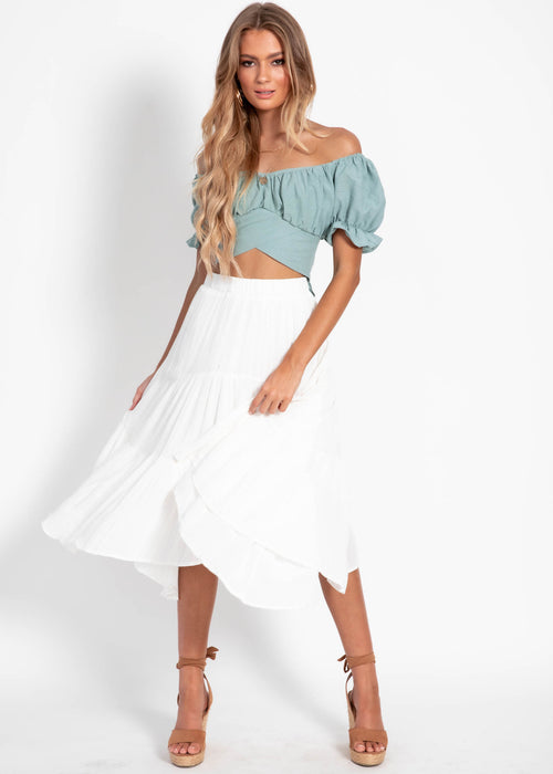 New Chapter Midi Skirt - White