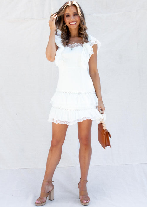 Orangello Dress - White
