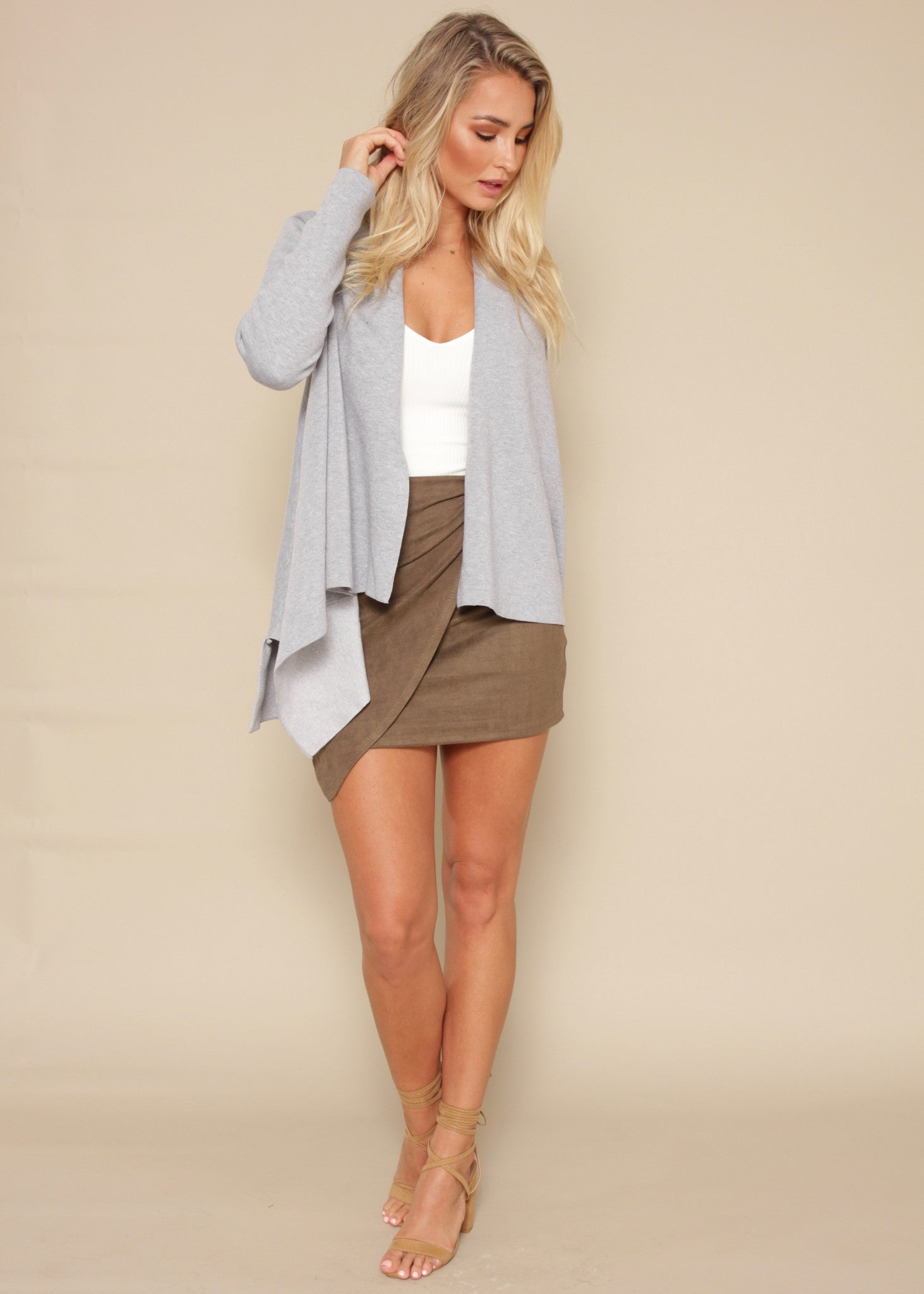 In It Together Knit Jacket - Grey
