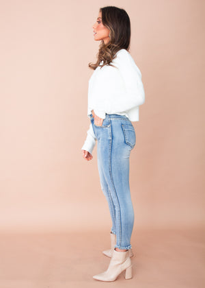 Kimmy Cropped Sweater - Cream
