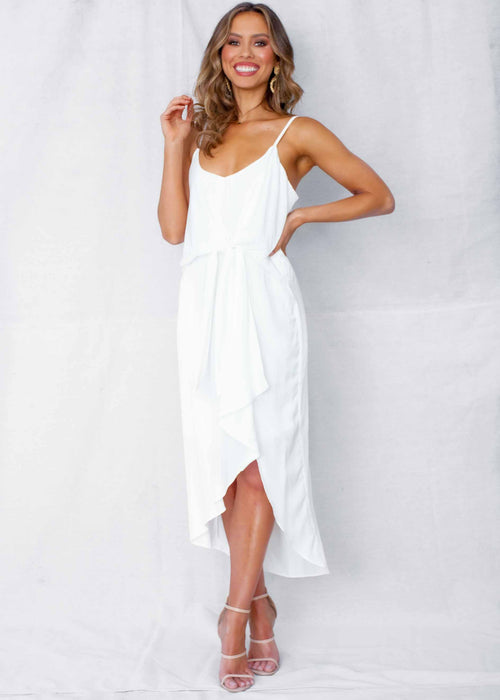 Starry Eyes Midi Dress - White