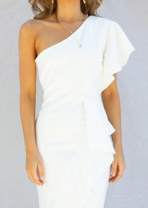 Marilla Midi Dress - White