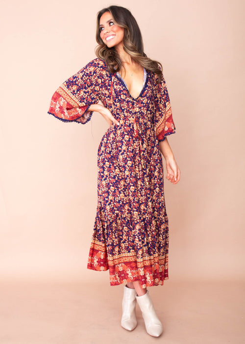 Women's Brighton Midi Dress - Evening Bloom