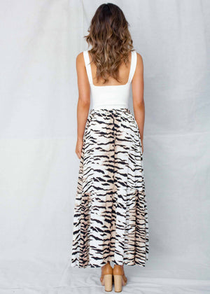 Sweet Love Maxi Skirt - White Tiger