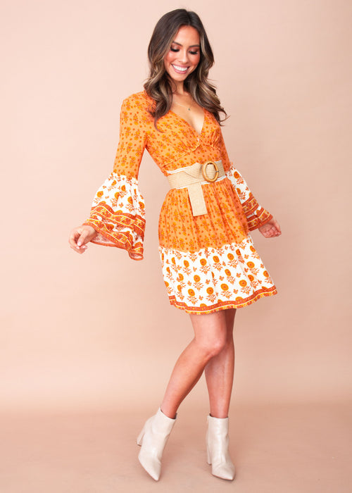 Adria Dress - Marigold Sunset