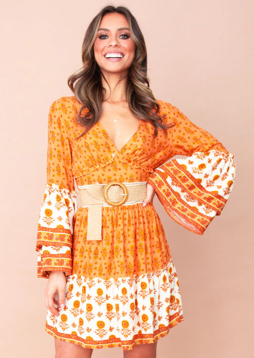 Women's Adria Dress - Marigold Sunset