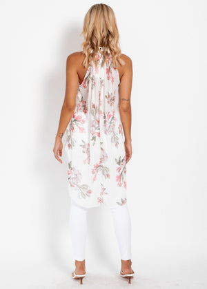 Radiant Light Blouse - Cream Floral