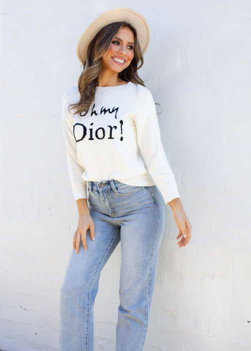 Women's Oh My Dior Sweater - Cream