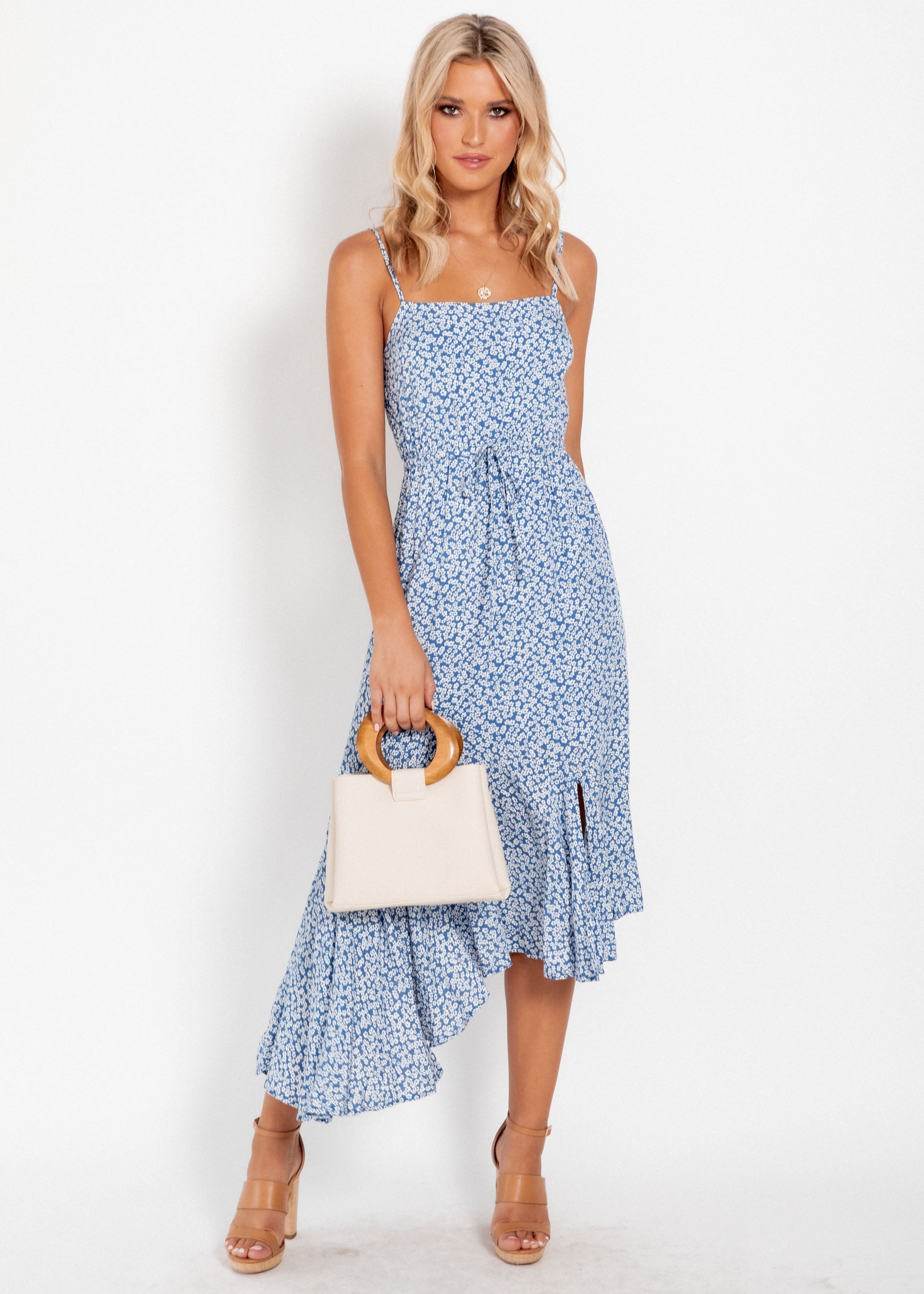 Blair Midi Dress - Blue Floral