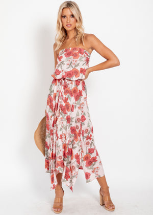 New Freedom Strapless Dress - Garden Party