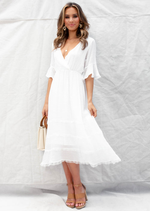 Primadonna Midi Dress - White