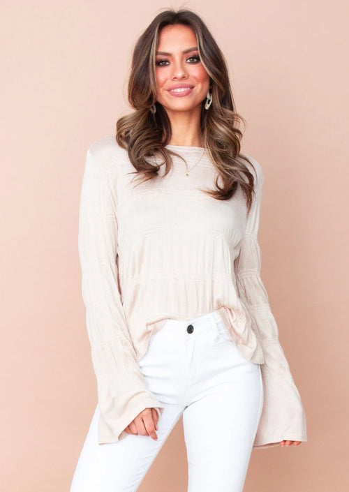 Women's Evelyn Knit Top - Beige