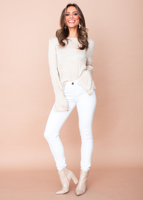 Evelyn Knit Top - Beige