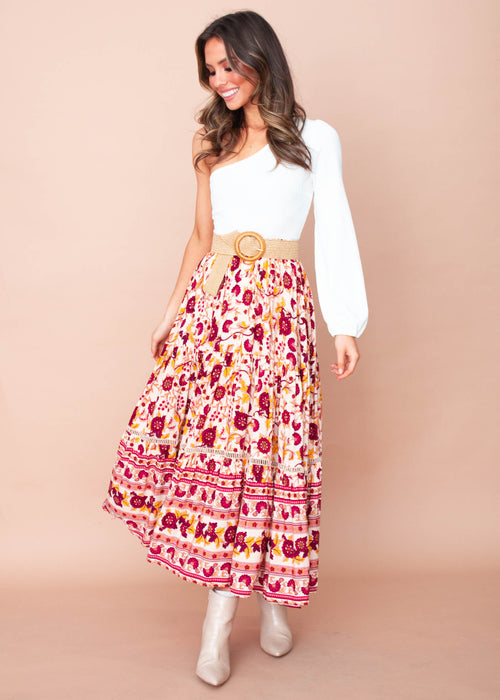 Josie Maxi Skirt - Moroccan Sunset