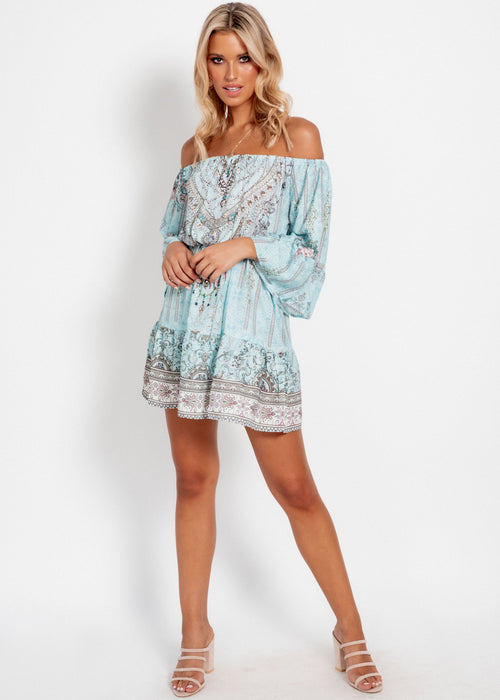 Regal Off The Shoulder Dress - Ember