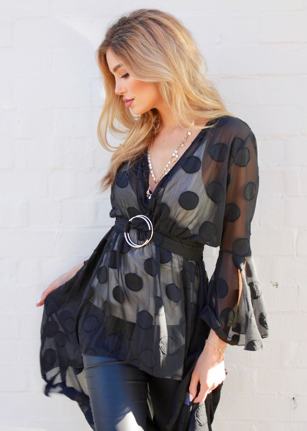 King Of Hearts Blouse - Black
