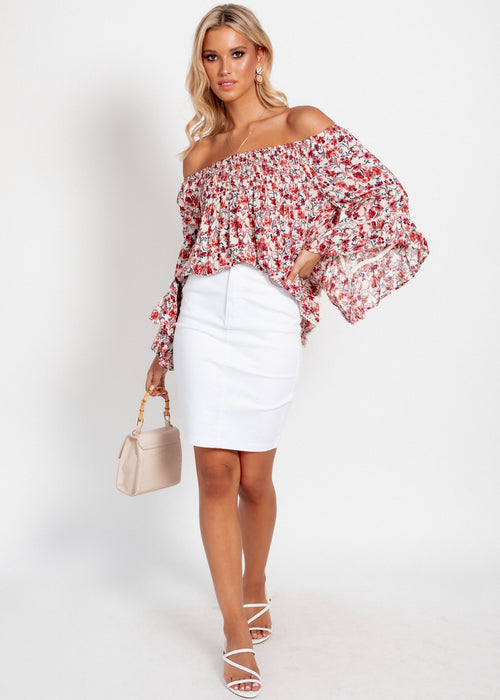 Sugar Night Off Shoulder Top - Floral Dream