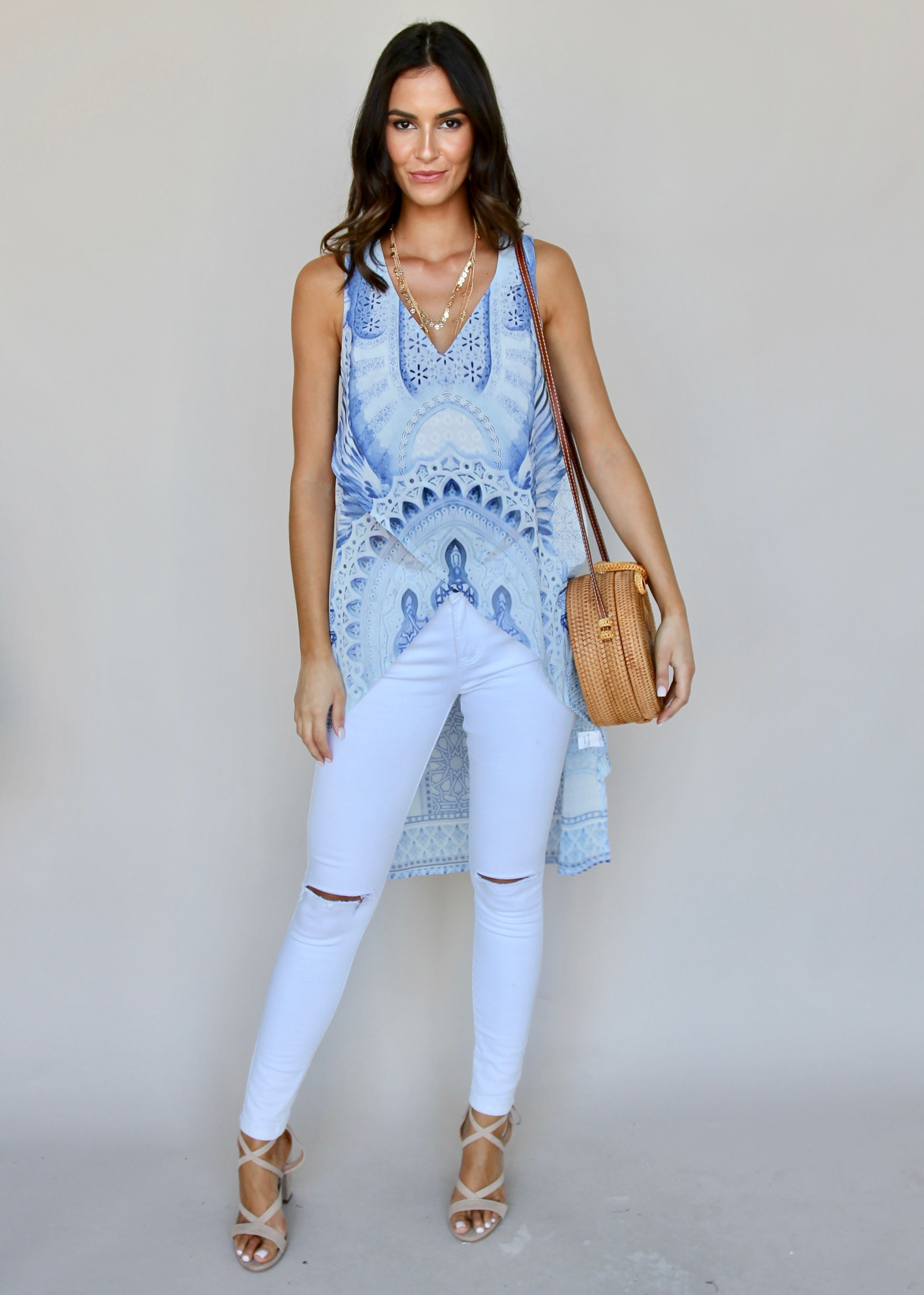 Every Kind Of Way Blouse - Blue