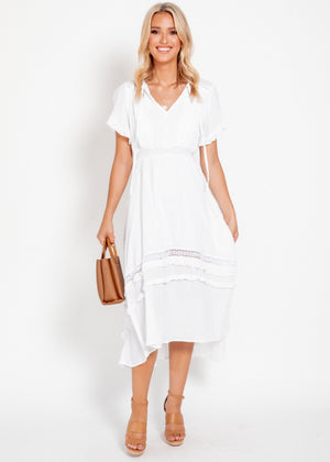 Lexington Midi Dress - White