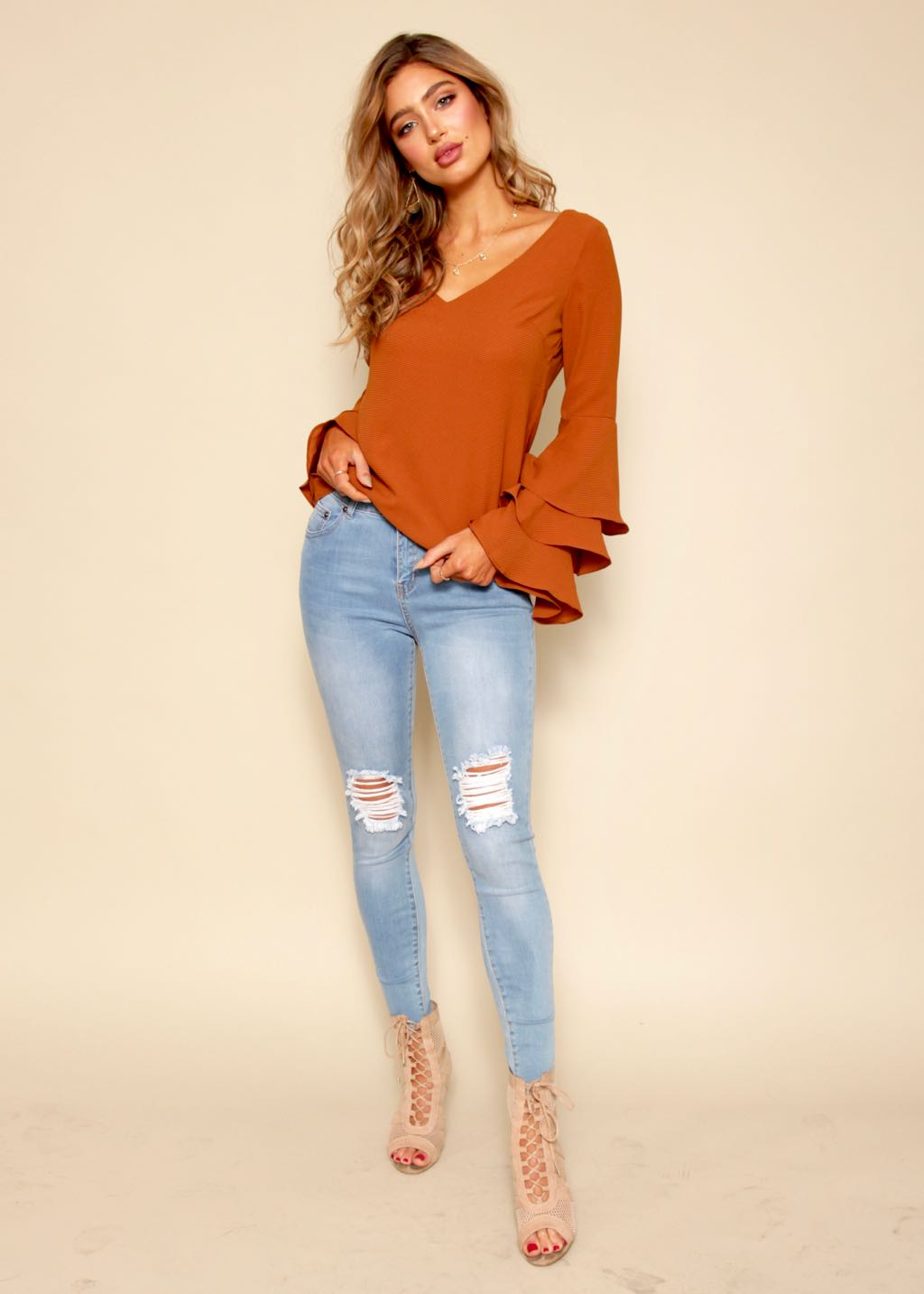 Side Effects Blouse - Umber
