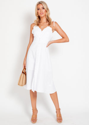 Sunday Breeze Midi Dress - White